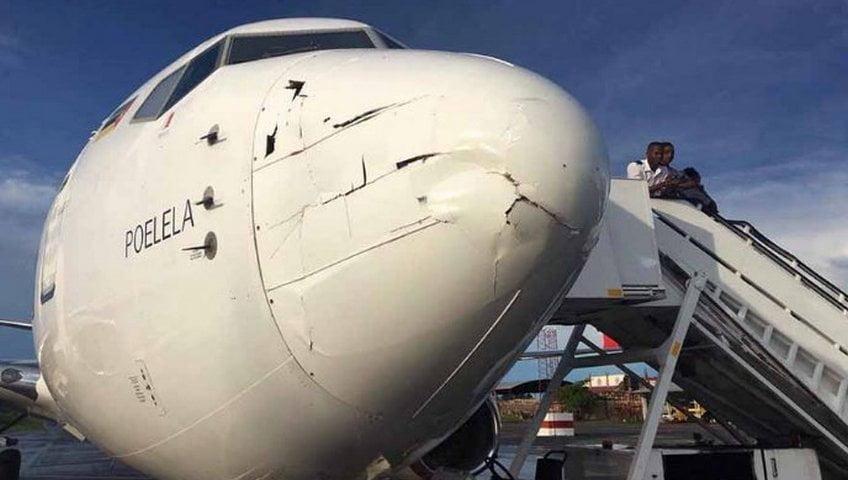 Drone Tak Dikenal Tabrak Pesawat LAM Airlines di Bandara Mozambik