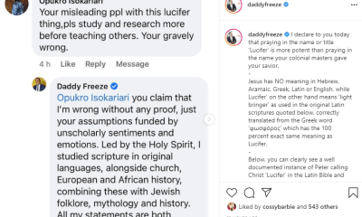 why praying in name of lucifer is more potent than praying in the name of your jesus daddy freeze