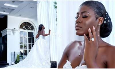 reality tv star alex unusual dazzles in wedding photos sparks reactions on social media