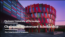 Chalmers Mastercard Scholarship