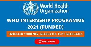 WHO Internship Program 2021