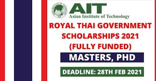 Royal Thai Government Scholarship 2021