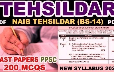 PPSC Tehsildar Past Papers
