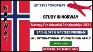 Norway Presidential Scholarships 2021