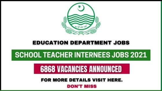 School Teacher Internees Jobs 2021
