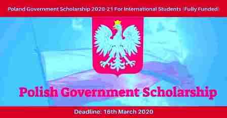 Polish Government Scholarships 2022