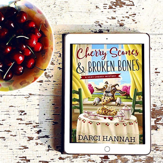 BOOK REVIEW: Cherry Scones and Broken Bones by Darci Hannah