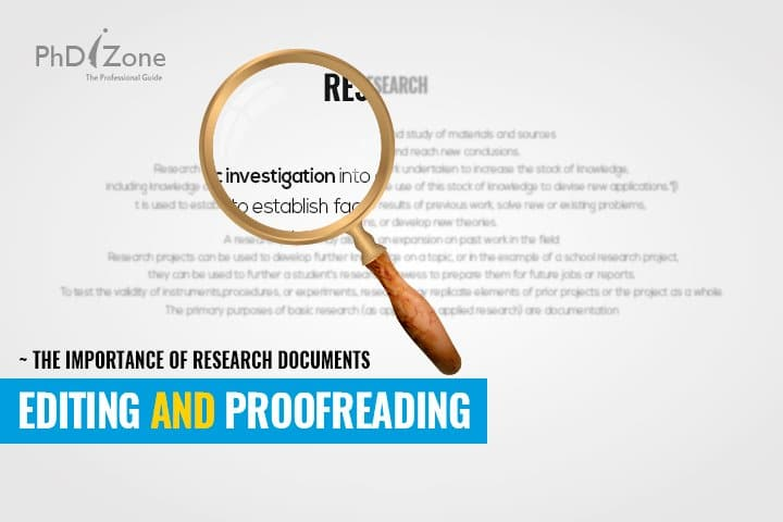 proofreading research documents