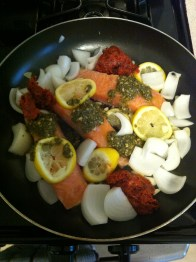 Raw goodies in the pan