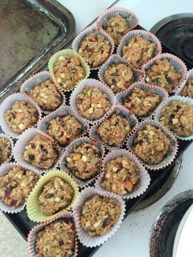 Into the muffin cups they go!