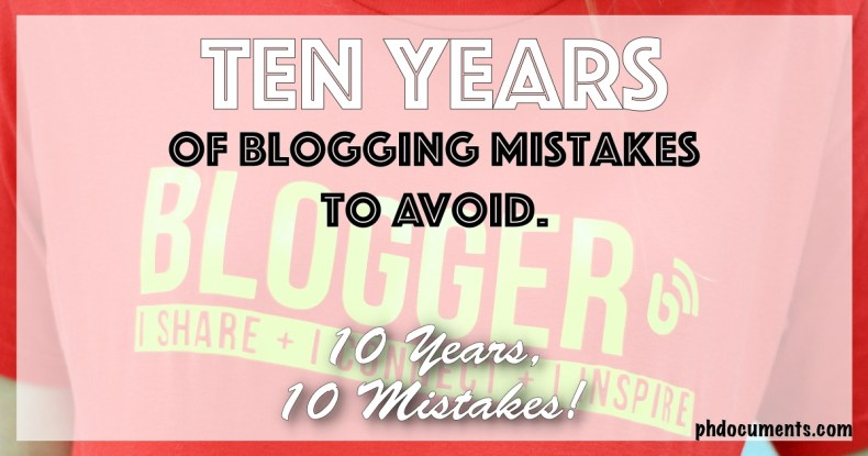 Ten Years of Blogging Mistakes to Avoid Cover