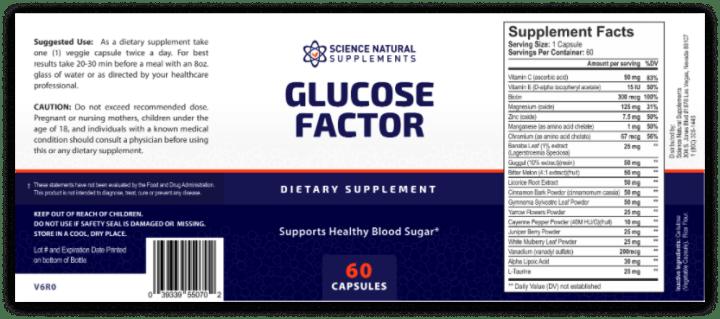 glucose factor dosage
