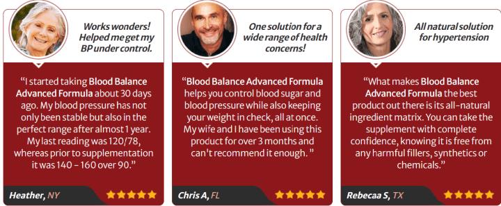 Blood Balance Advanced Formula Review-customer reviews