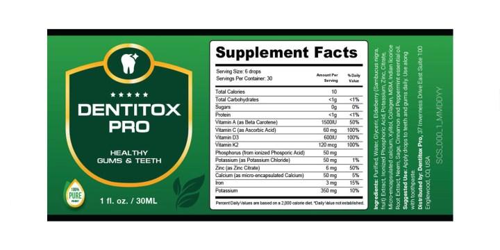 Dentitox Pro Dosage