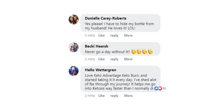 Keto Burn Advantage customer reviews