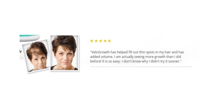 Velogrowth Hair Formula customer reviews