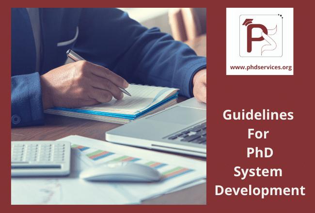 Guidelines for system development programming
