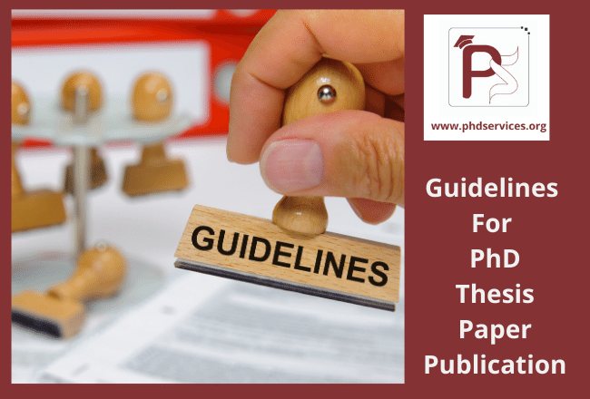 Guidelines for PhD Thesis Paper publication in reputed journals