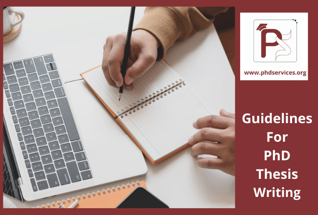 Guidelines for PhD thesis writing for research scholars