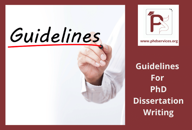Eight Key guidelines for PhD dissertation writing