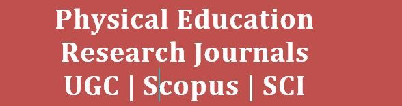 physical education research journals