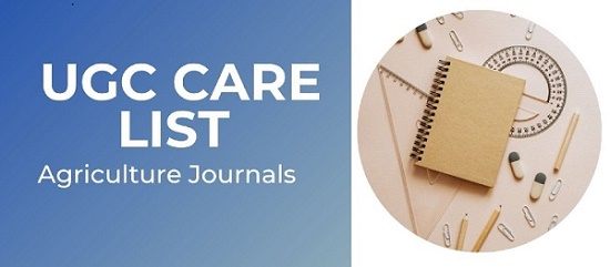 UGC CARE approved journals for Agriculture