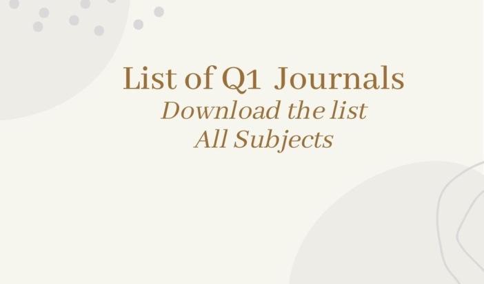 List of Q1 journals