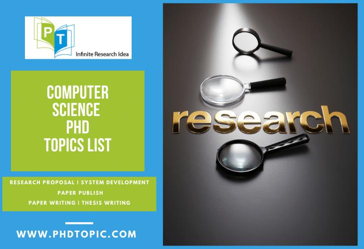 Latest Computer Science PhD Topics List Online