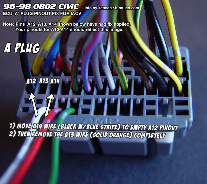 Information :: Tech Area :: 3 Wire to 2 Wire IACV Conversion for 9698 Civic
