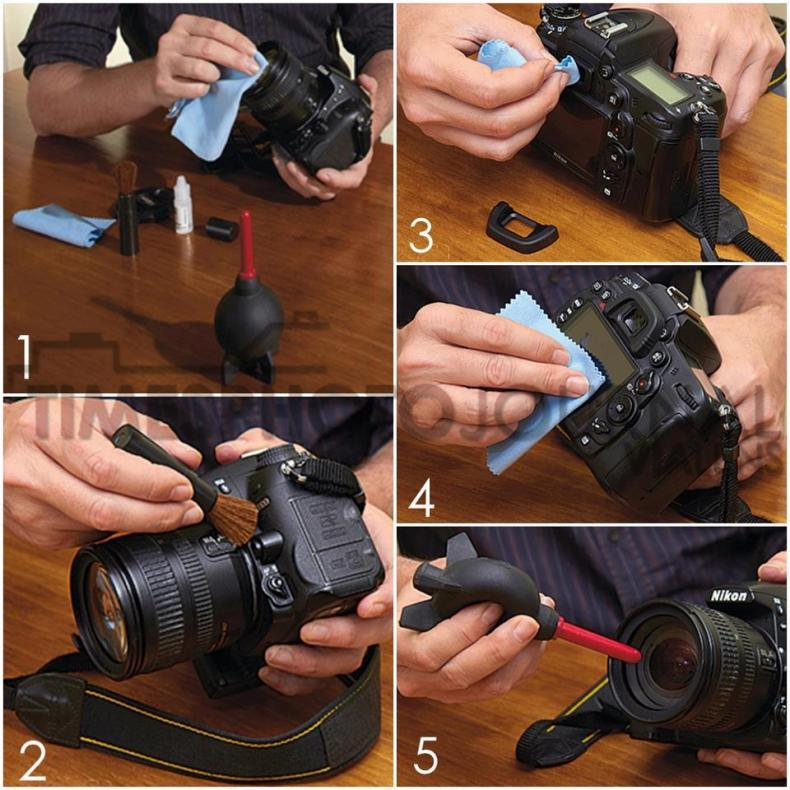 Camera cleaning