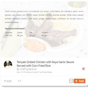 Teriyaki grilled chicken_nutrition
