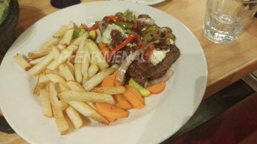 Steaks and fries