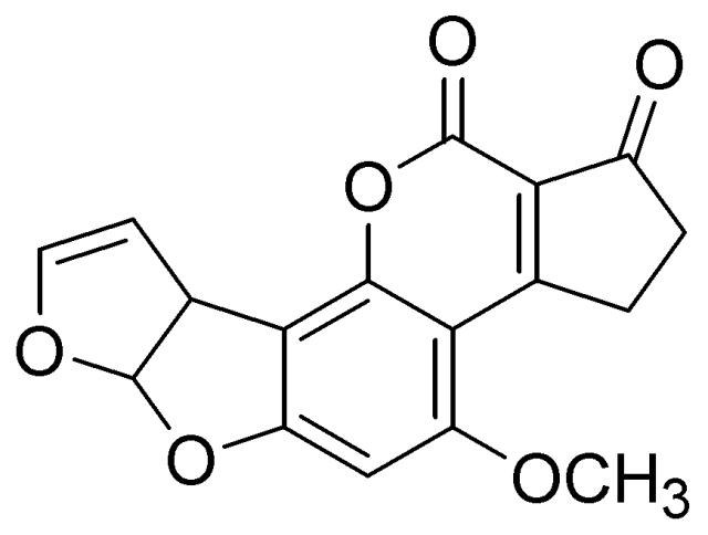 Aflatoxins chemical chain image