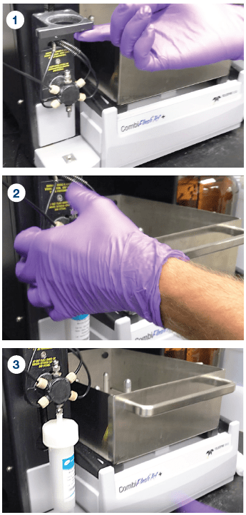Steps to install your Claricep Flash Column onto a CombiFlash Rf Instrument.