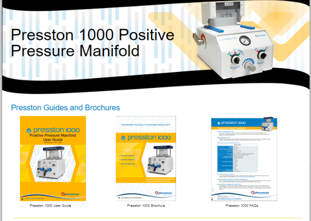 Presston 1000 Positive Pressure Manifold comes equipped with resources and guides on how to set-up and use.