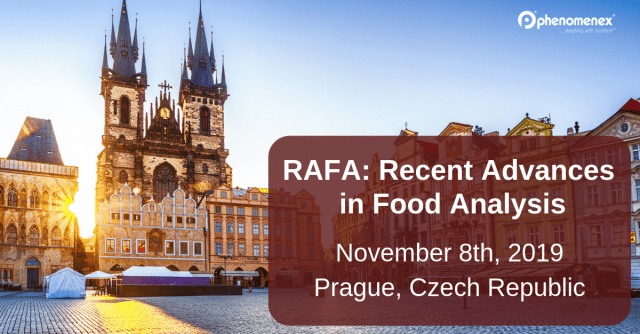 RAFA 2019, focusing on recent advances in food analysis, is one of our last scientific conferences of the year.