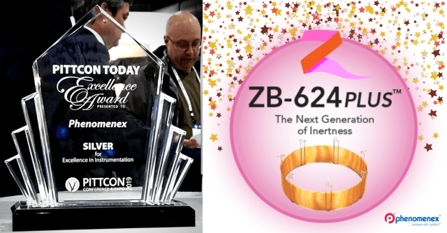 Zebron ZB-624 PLUS was awarded Silver for Excellence in Instrumentation from Pittcon to kick off the Phenomenex Chromatography games