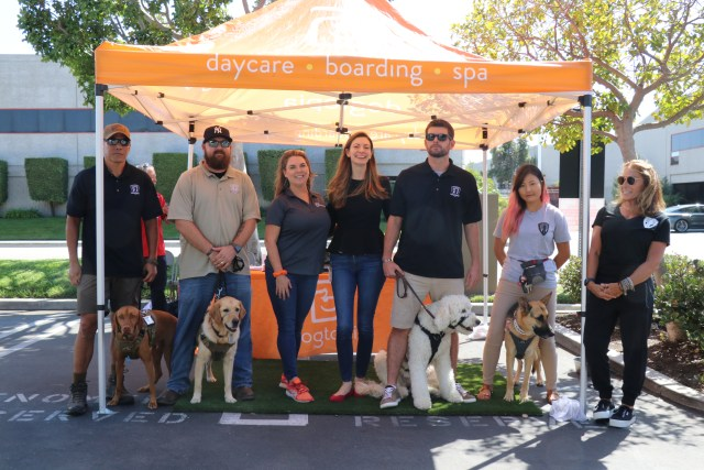 Next Step Service Dogs visits with Phenomenex and Dogtopia