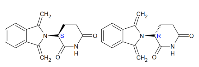 Chiral compounds - Indicated R- and S-enantiomers of Thalidomide