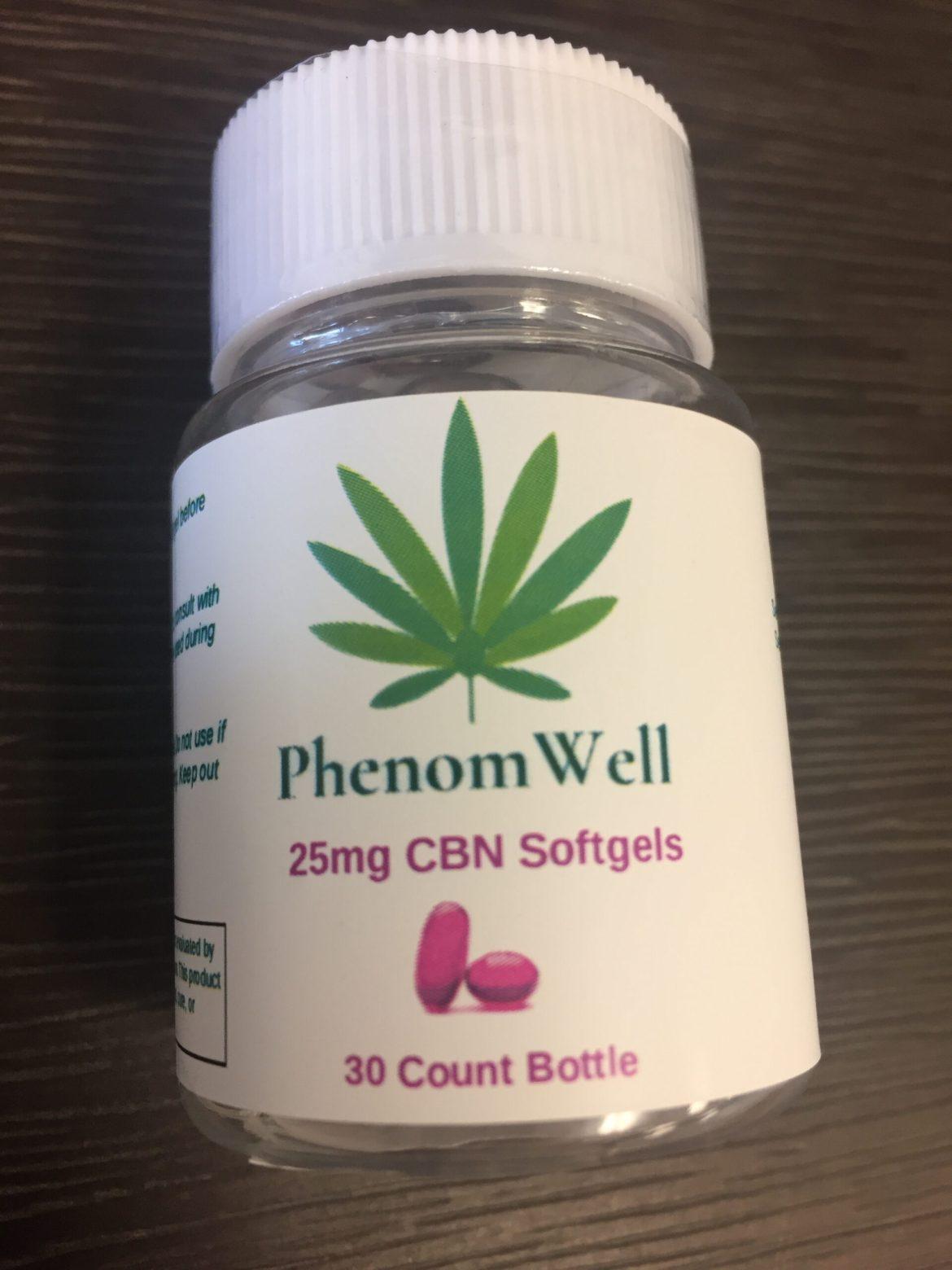 PhenomWell 25mg CBN Softgels