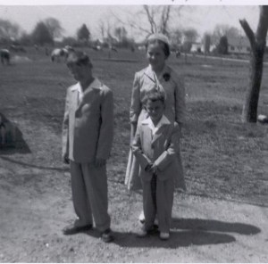3 children-April 1957