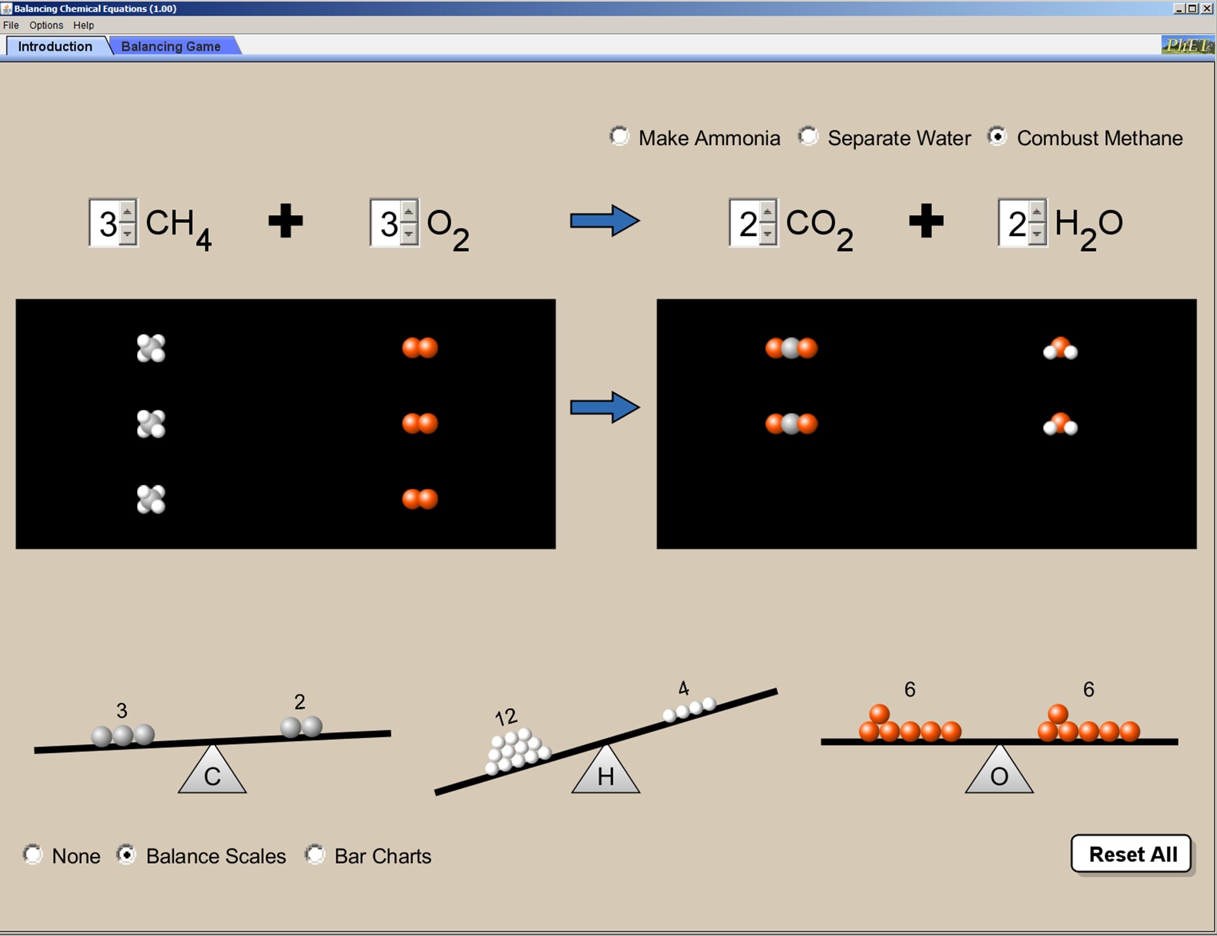 Phet Balancing Chemical Equations Worksheet Answer Key