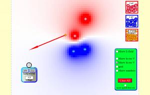 Електрична поља тачкастих наелектрисања скриншот