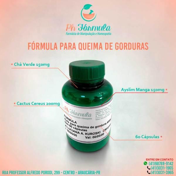 FÓRMULA PARA QUEIMA DE GORDURAS