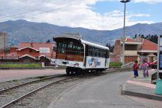 In Tambo; die Eisenbahnlinie ist zur Zeit leider nicht in Betrieb.
