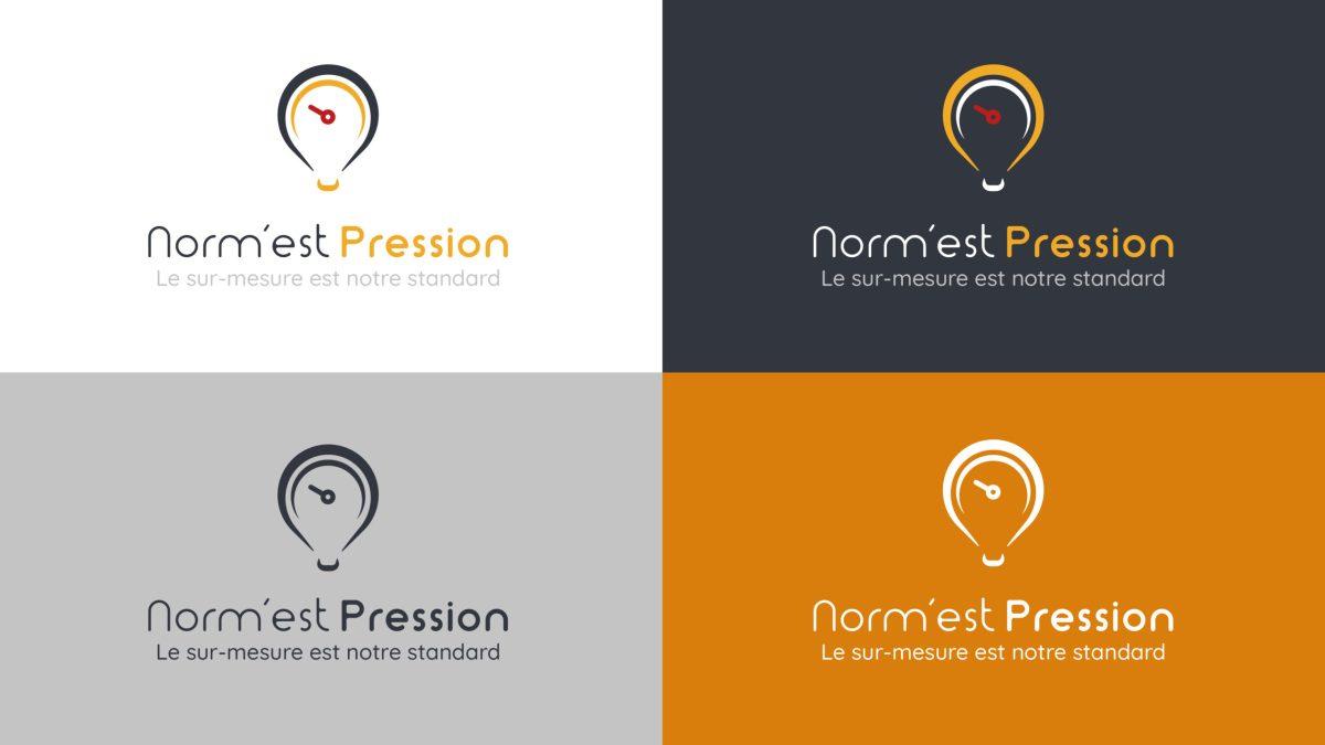 Norm'est Pression refonte charte graphique logo communication Épinal Vosges