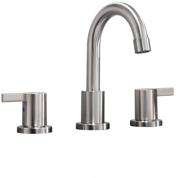 brushed nickel bathroom faucet without