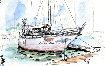 Sketch of a sailboat by Phil