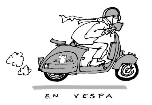 Driving Vespa