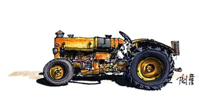 Sketch of a Vandeuvre farm tractor .